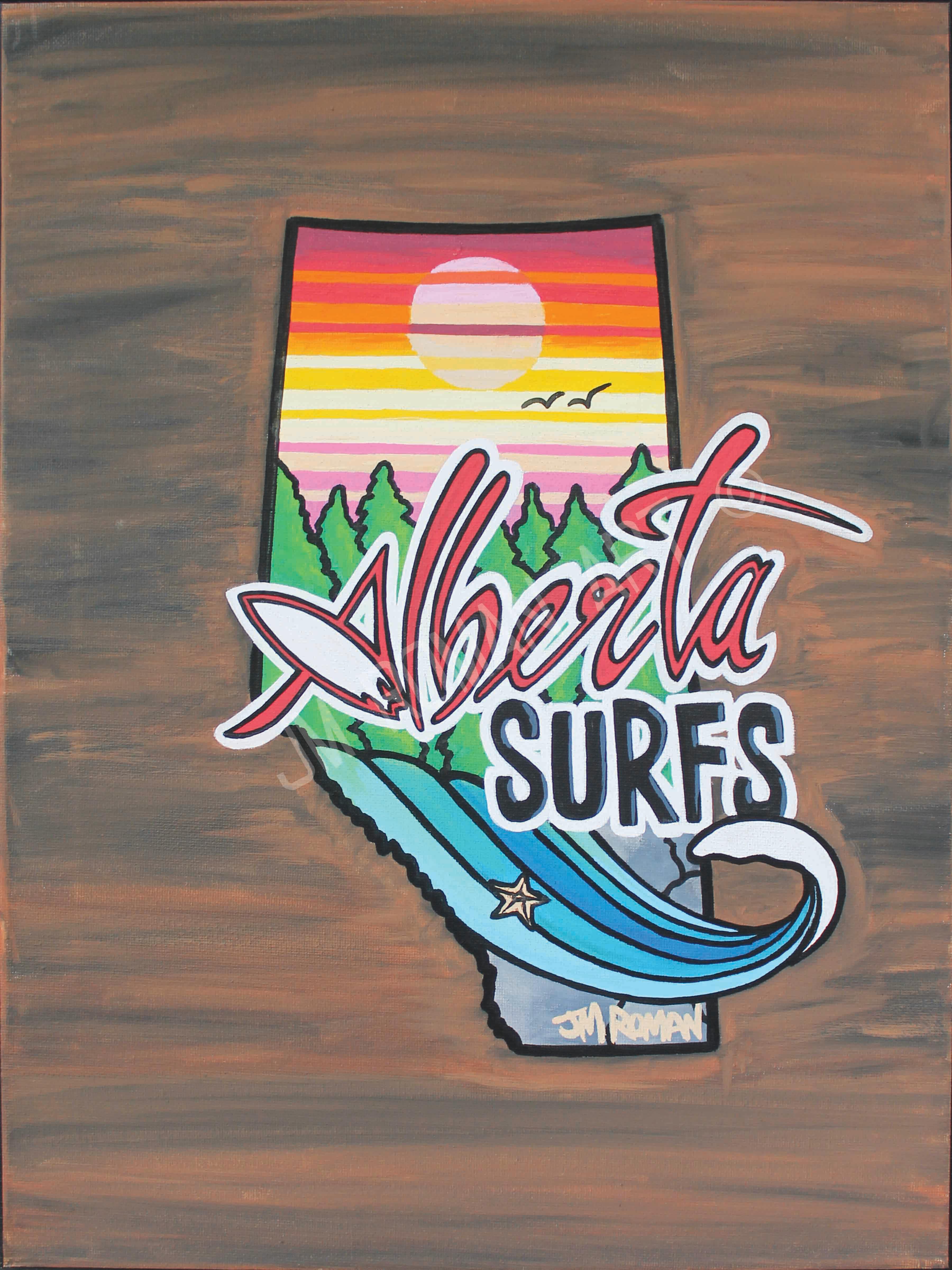 12 x 16 Alberta Surfs