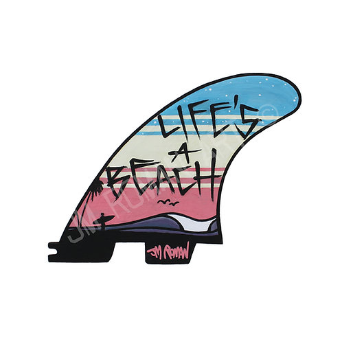 Life's A Beach 6 x 4.57 in (Bumper Sticker)