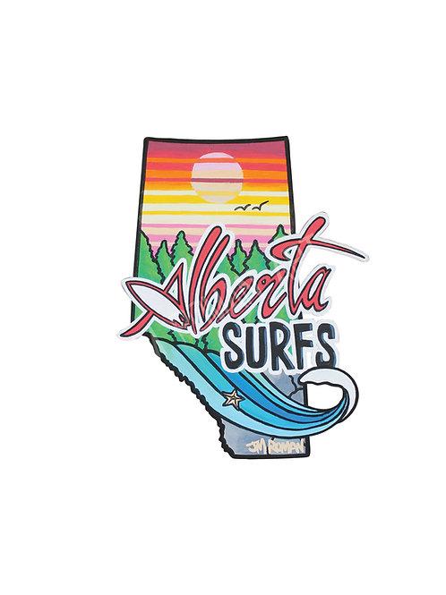 Alberta Surfs 4.8 x 6 in (Bumper Sticker)