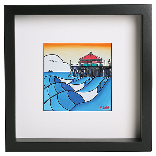 Huntington Beach 12 x 12 in (Print)