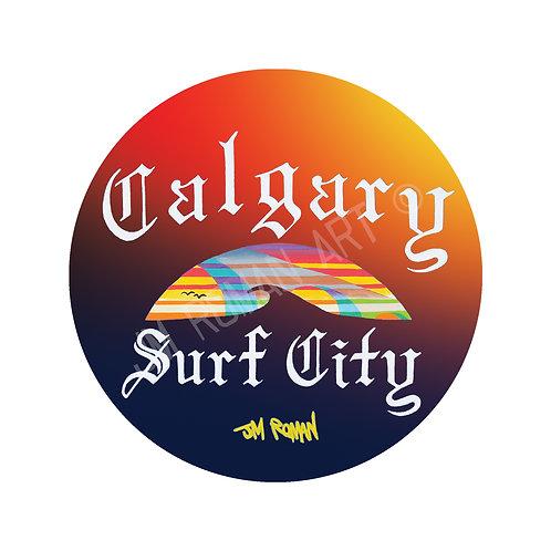 Calgary Surf City 4 x 4 in (Bumper Sticker)
