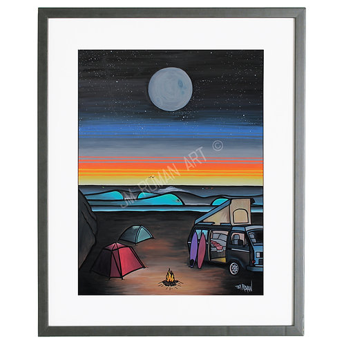 Night Surfers 8 x 10 in (Print)