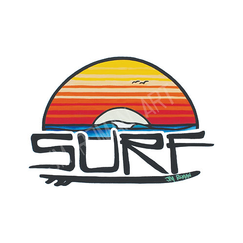 SURF 3.5 x 5 in (Bumper Sticker)