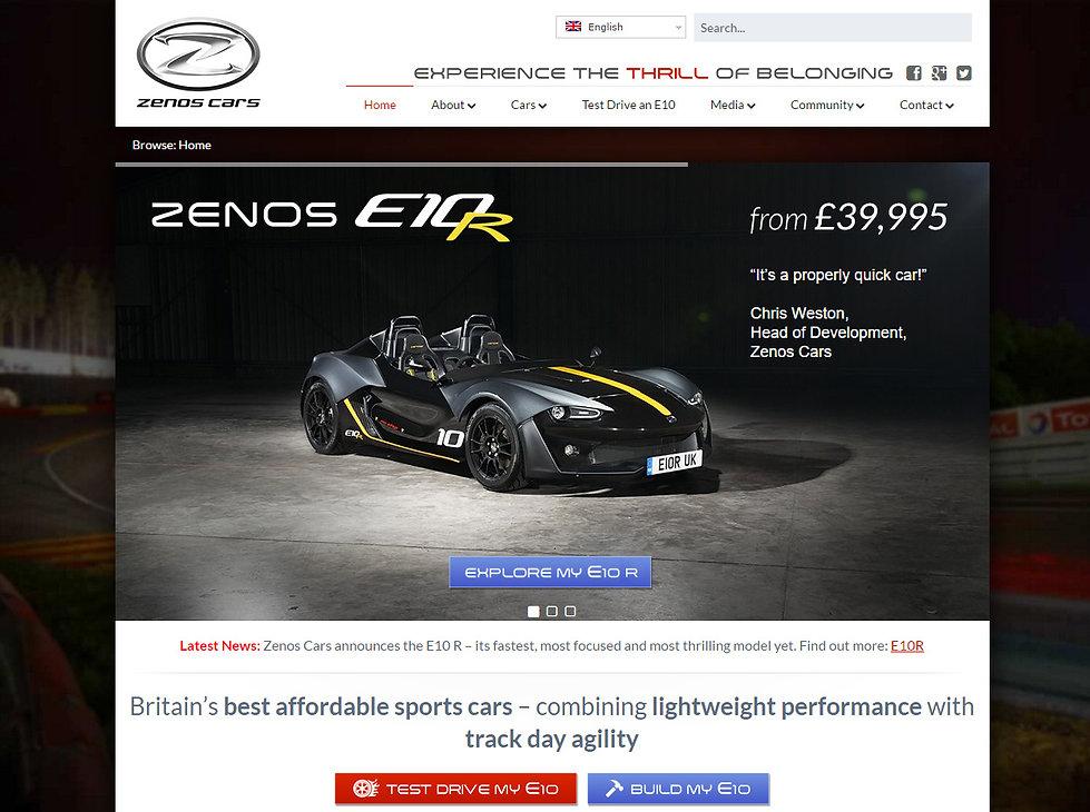 Zenos Cars using SCS Delta GDI 4 ECUs
