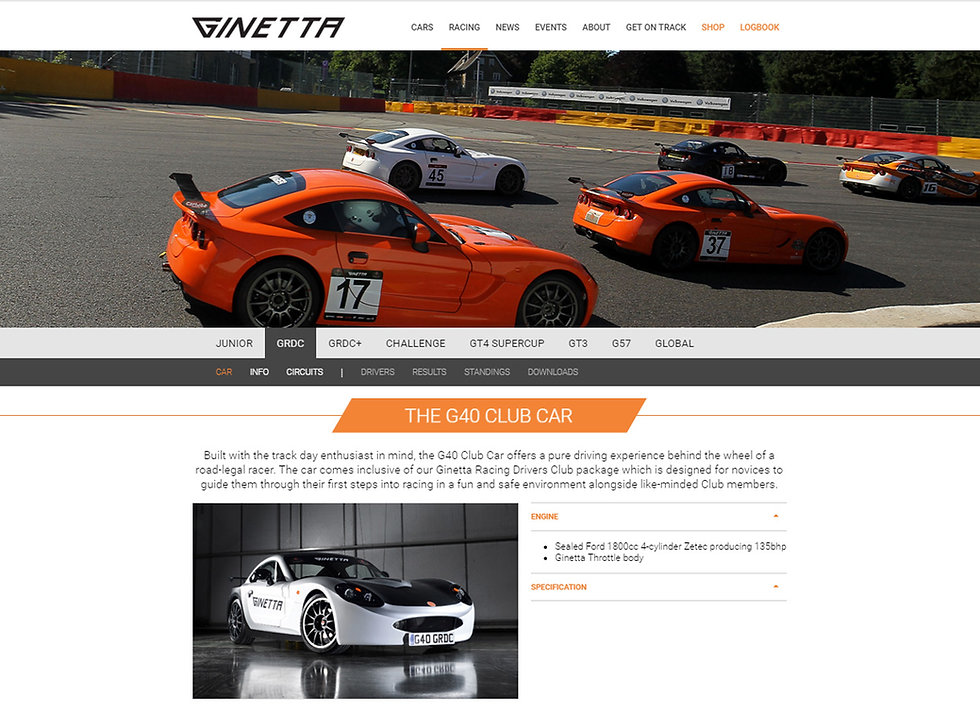 Ginetta GRDC using SCS Delta 400 ECU