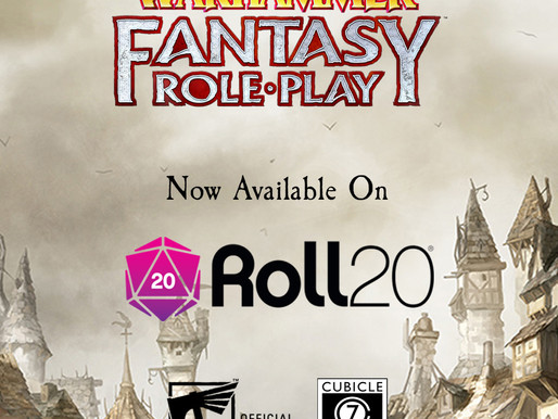 Warhammer Fantasy RPG aportou no Roll20