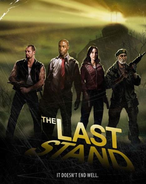 Quarteto de Left4Dead na expansão The Last Stand