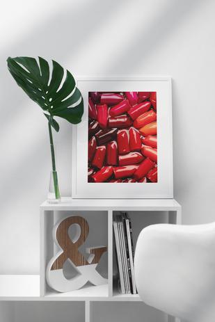 Lipstick Tart poster (frame not included