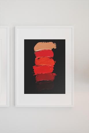 Lipstick poster framed with white mat