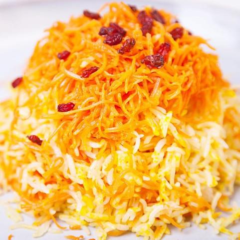 Rice with Carrots & Saffron