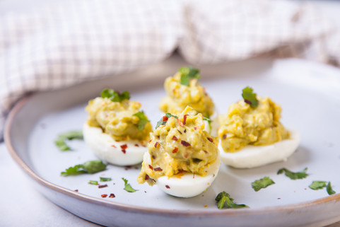 Avocado and egg yolks dip