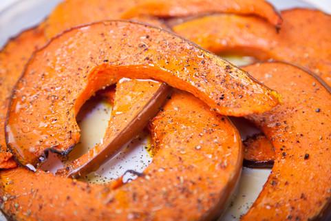 Oven roasted pumpkin