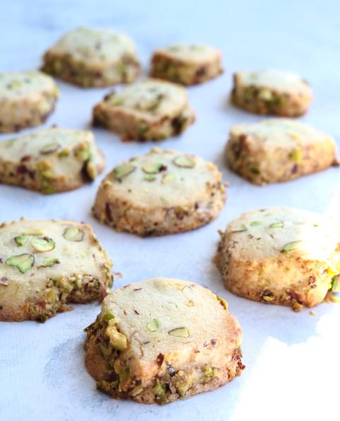 Butter & Pistachio Cookies
