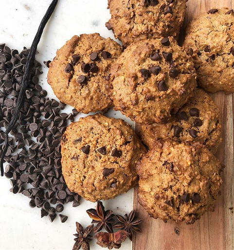 Oat & chocolate chips cookies