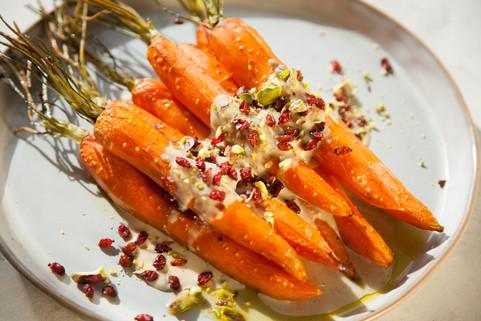 Roasted carrots with tahini sauce