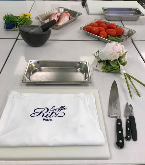 Cooking class in Ritz-Escoffier