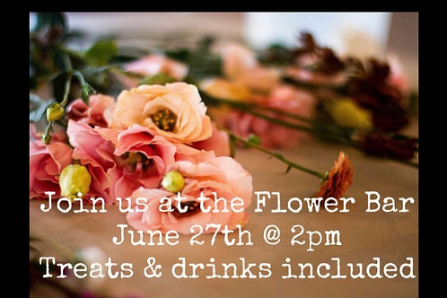 Flower Bar @ One More Cup