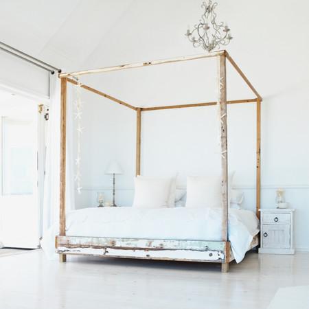 White bohemian bedroom