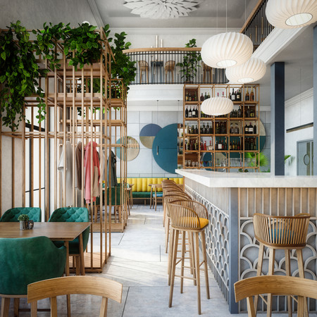 Eclectic cafe design