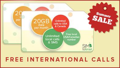 Summer sale! 2 Israeli SIM cards