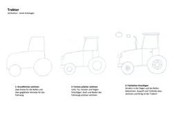 Traktor Zeichenanleitung