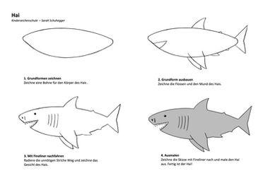 Zeichenanleitung Hai