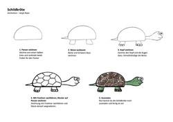 Schildkröte Zeichenanleitung