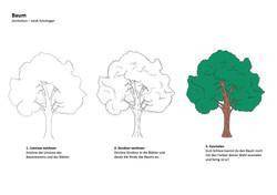 Baum Zeichenanleitung