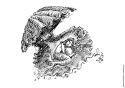 Ausmalbild Meerjungfrau in Muschel