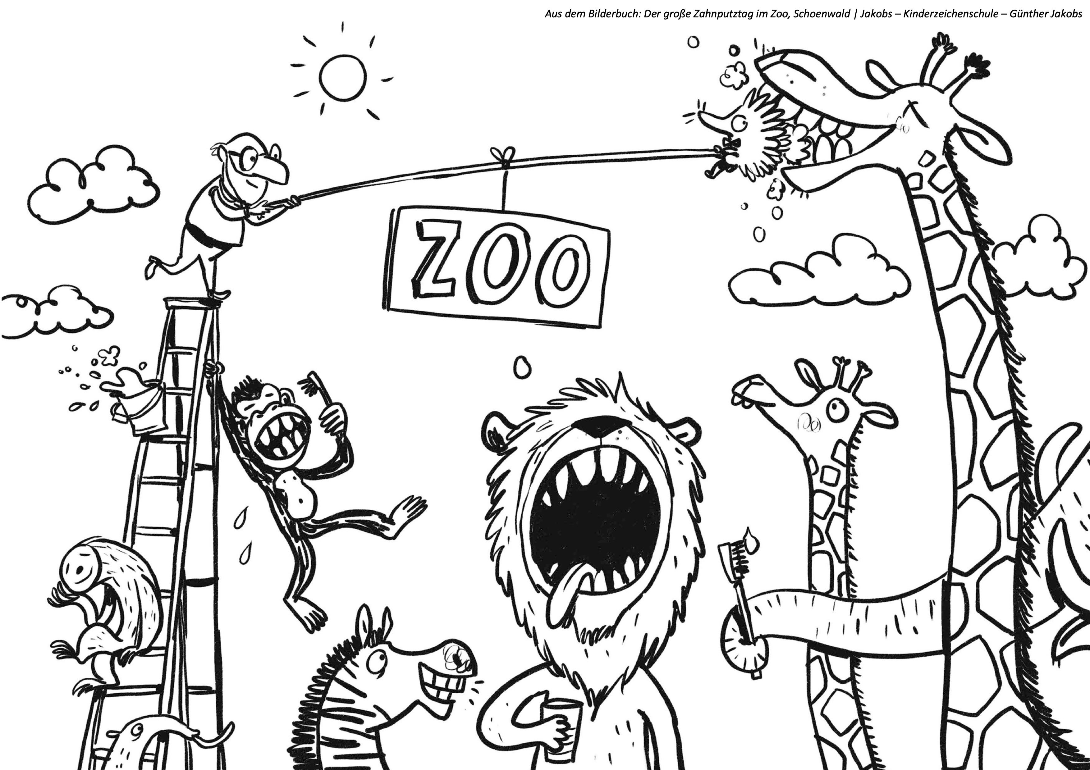 Ausmalbild Zoo