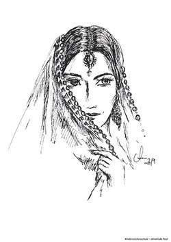 Ausmalbild orientalische Frau