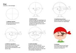 Pirat Zeichenanleitung