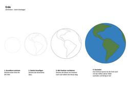Erde Zeichenanleitung