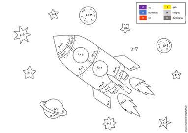 Malen nach Zahlen Weltraum