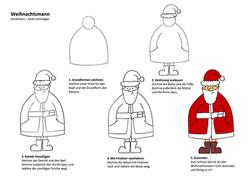 Weihnachtsmann Zeichenanleitung