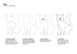 Katze Zeichenanleitung