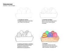 Ostereiernest Zeichenanleitung