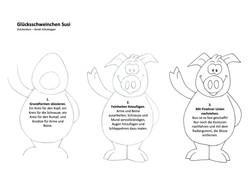 Glücksschweinchen Susi zeichnen