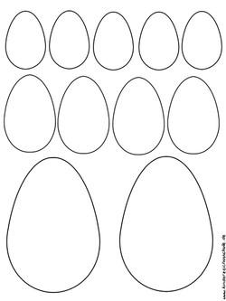 Bastevorlage Ostereier zum Ausschneiden und Ausmalen