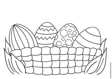 Ausmalbild Ostereiernest