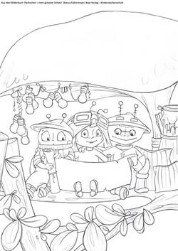 Ausmalbild Perlinchen mein grösster Schatz Buchcover