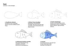 Fisch Zeichenanleitung