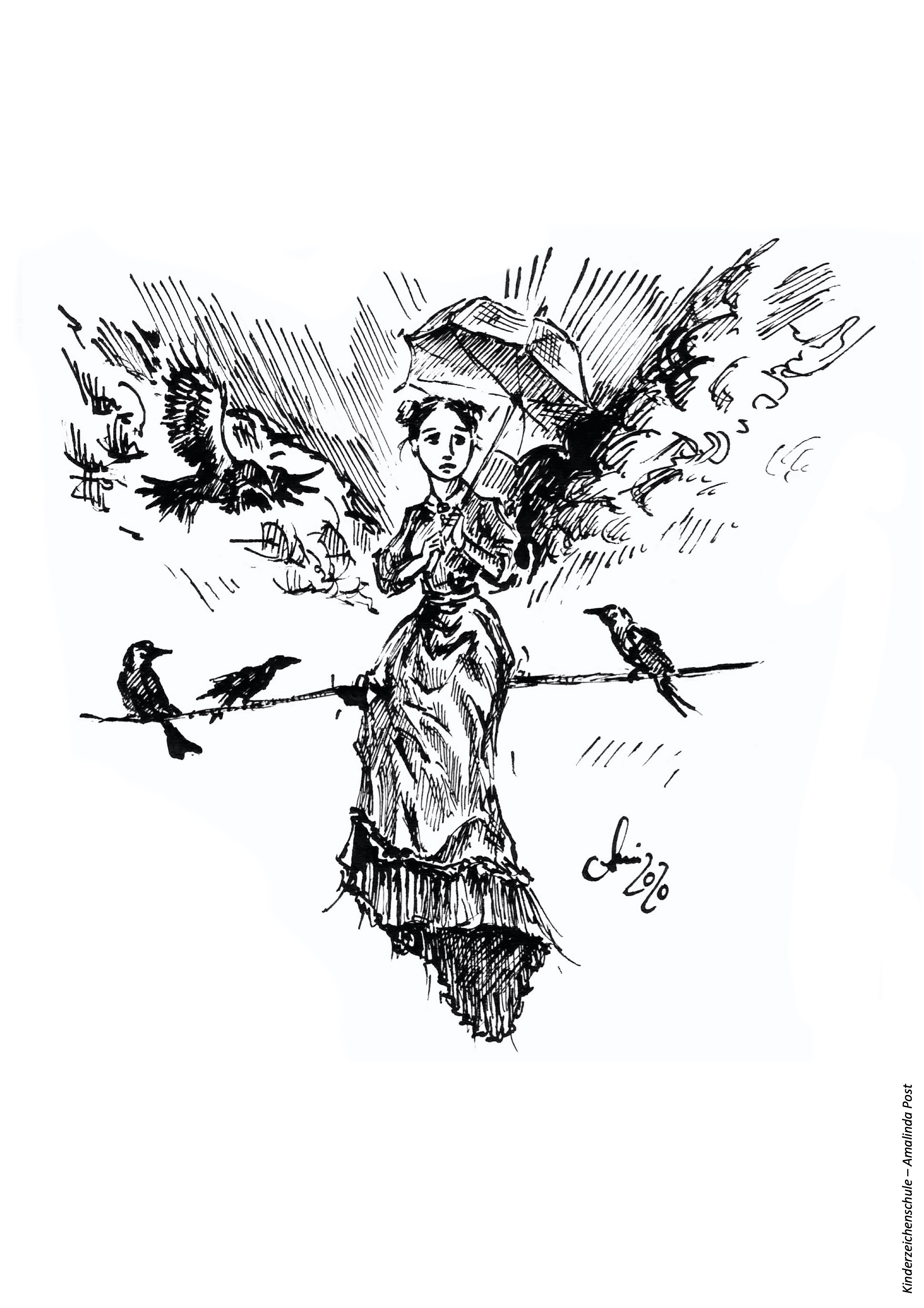 Ausmalbild Mary Poppins