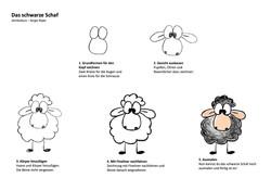 Schwarzes Schaf Zeichenanleitung
