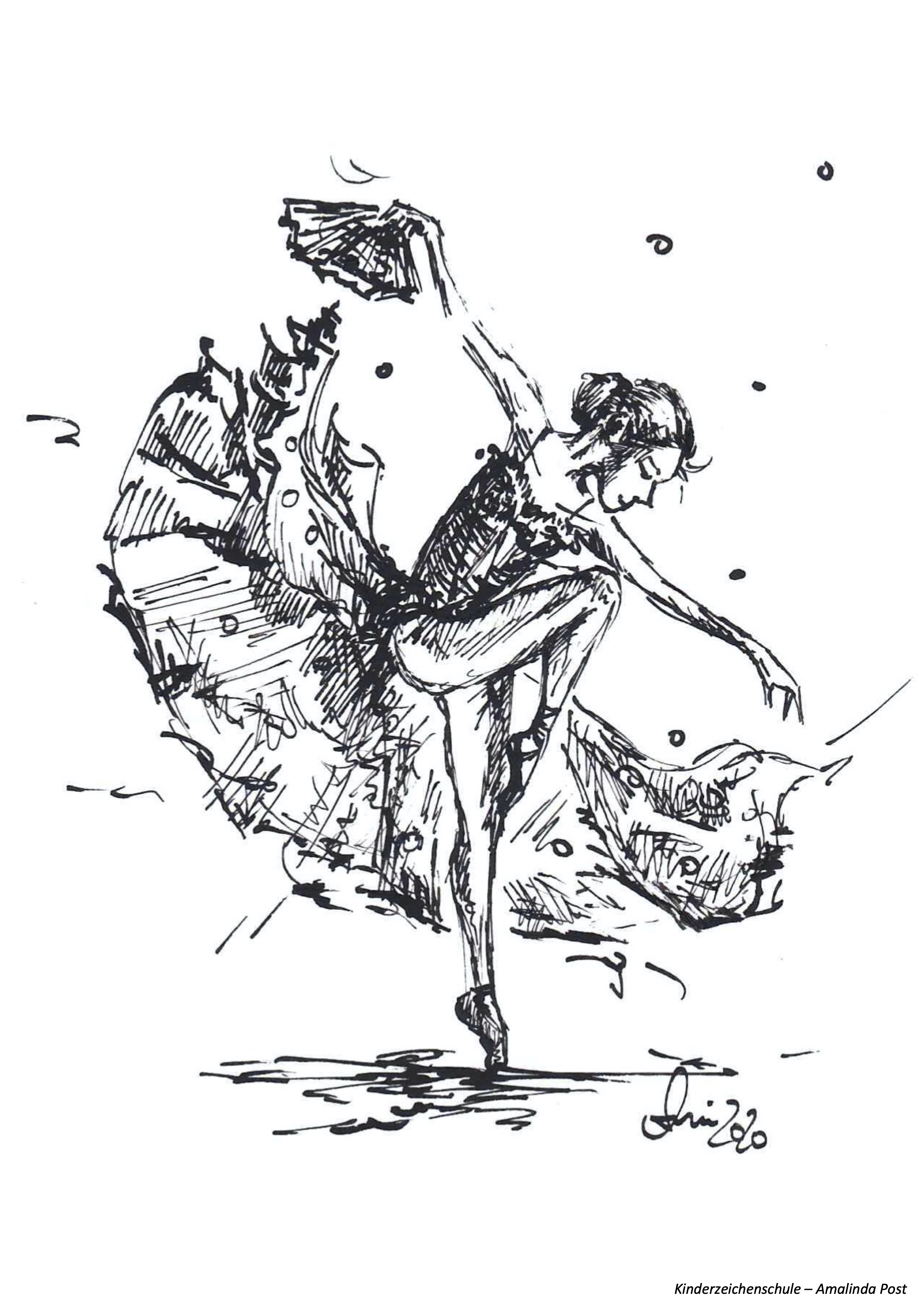 Ausmalbild Tänzerin