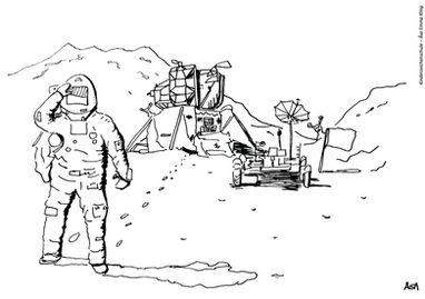 Ausmalbild Astronaut