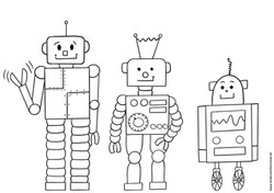 Ausmalbild Roboter