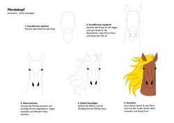 Pferdekopf Zeichenanleitung