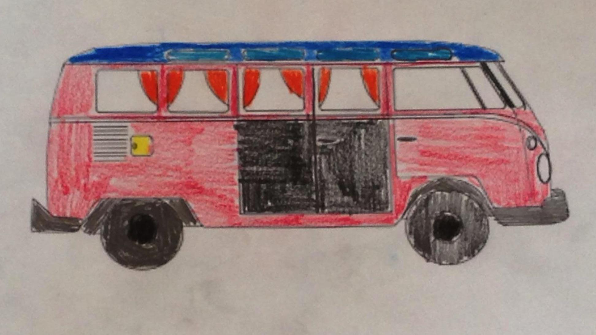 Zeichnung Bus