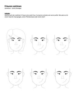 Frisuren Frauen zeichnen